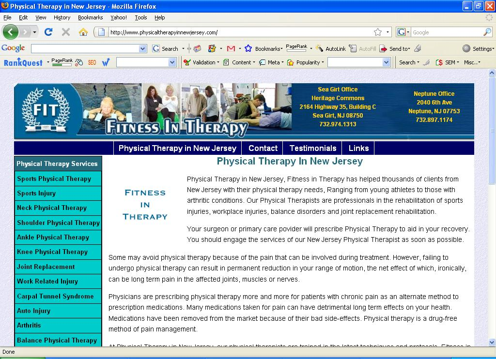 Physical Therapy in New Jersey